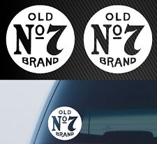 2x Whiskey No7 Circle Logo Jack Daniels Car Vinyl Decal Sticker Quality America