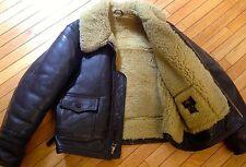 $1700! ANJ-4 B3 Sheepskin Shearling Thick Heavy Winter Coat by Lost worlds 48