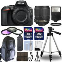 Nikon D5600 Digital SLR Camera Body + 18-105mm VR Lens + 24GB Accessories Kit
