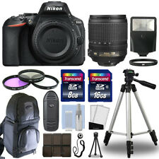 Nikon D5600 Digital SLR Camera Body + 18-105mm VR Lens + 24GB Accessories Kit