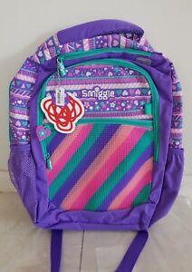 SMIGGLE GIRL'S PURPLE BACKPACK SCHOOL BAG, SPIKE 30 x 42 x13cm $59.99 New