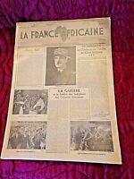 Journal du 19 avril 1945-La France Africaine-Organe d'infos coloniales-original