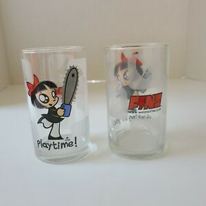 Scary Miss Mary Drinking Glass Set Of 2 Playtime! & Thinking of You