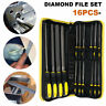 16pcs Engineer Diamond Hand/Needle File Tool Set with Black Canvas Carrying Case