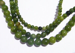 1 filo perline pietre dure forate Giada tondo naturale 4-8mm bijoux