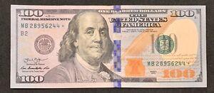 2013 $100 Hundred Dollar Star Note MB28956244*