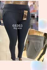 Women summer elastic waist check design high Waist plus size ladies Trousers...