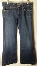 7 For All Mankind Dojo Flip Flop Flare Jeans Size 26X28 Dark