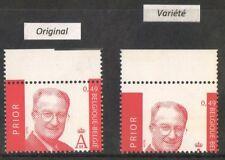 VARIETE N°3132** (1) 0,49 SA MAJESTE LE ROI ALBERT II : DECADRAGE INFERIEUR 17
