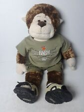 "Build A Bear BABW Retired 18"" Stuffed Magnificent Monkey w/ Outfit & Sandals"