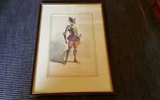Watercolour of Continental Knight/Soldier - Signed Demoyra