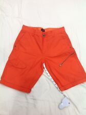 G by GUESS Men's sz 30 Solid Cargo Shorts  -Orange