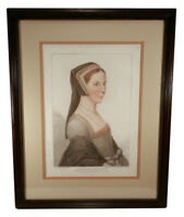 ANTIQUE 18TH CENTURY BARTOLOZZI STIPPLE ENGRAVING HOLBEIN PORTRAIT ANNE CRESACRE