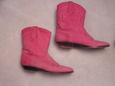 Pink Cowboy Boots Size 8 Great Condition