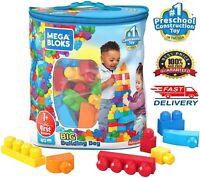 Building Block Set 80 Piece Mega Big Bag Classic Large Size Kids Blocks Toddler