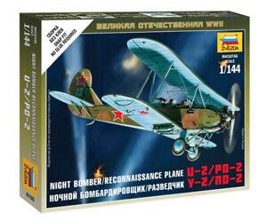 Zvezda 1/144 Russian U-2/PO-2 Night Bomber / Reconnaissance Plane Z6150