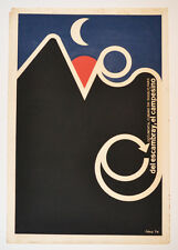 1974 Cuban Original Silkscreen Movie Poster.Del Escambray el campamento.Camping