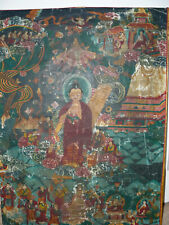 Antique, interesting and genuine ritual Thangka of Shakyamuni Buddha Tibet/Nepal