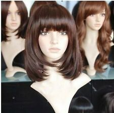 CHENSW800 new fashion style short brown red straight hair wigs for women wig