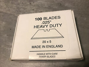 Heavy Duty Trim Blades Trimming Cutting Box Of 100