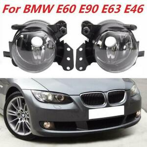 Pair Car Front Fog Light Lamp Clear Bulb For BMW E60 E90 E63 E46 323i 325i 525i