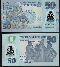 Nigeria 50 NGN PICK 40 2013 Polymer UNC Nuovo di zecca