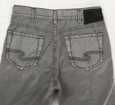 SILVER JEANS Sale New Mid Rise Pete Tapered Jogger Grey Twill Pant Pants 32 x 28