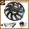 "9"" Aeroline Electric Radiator / Intercooler 12v Cooling Fan + Thermostat Control"
