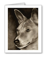 Basenji note cards by watercolor artist Dj Rogers