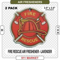 Fire Rescue Maltese Cross Air Freshener Firefighter Patch Badge Car Truck - D108
