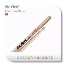 Vic Firth American Classic Wood Tip Drum Sticks 2B