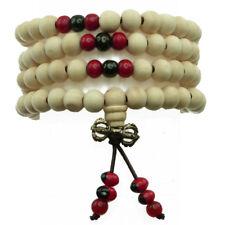bracelet ou collier Homme Femme bois de santal beige parfumé chapelet boudhiste
