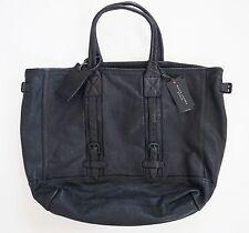 47ca7fa73a51 Ralph Lauren Black Label Denim Black Leather Large Tote Shoulder Bag