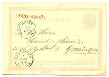 NEDERLAND 1871  BRIEFKAART   - LANGST = STADS-KANAAL  = IN ROOD  ZEER FRAAI