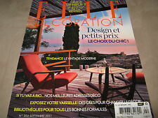NEW! ELLE DECORORATION FRANCE Septembre 2011 No 202 Home Fashion Design French