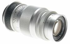 ERNST LEITZ WETZLAR CHROME ELMAR f=9cm 1:4 M39 SCREW MOUNT LENS 4/90mm SILVER
