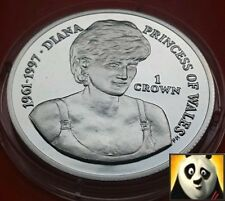 2007 falkland islands 1 one crown diana princess of wales silver proof coin