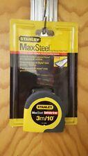 NEW STANLEY 33-589 1/2 x 3M MAXSTEEL METRIC TAPE RULE MEASURE CONTRACTOR GRADE