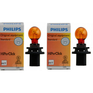 2 pc Philips Front Turn Signal Light Bulbs for GMC Acadia 2007-2012 wa