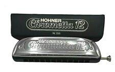 HOHNER ? Chrometta 12 ? Chromatische Mundharmonika ? C-Dur ? Harp ? Klassiker!