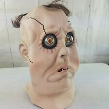Ghoul Zombie Latex Mask Dead Man Bug Bulging Eyes Full Size Adult Head Piece