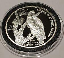 Coeur d'Alene Idaho Hecla Mining Since 1891 PROOF Gem 1 Troy Oz .999 Fine Silver