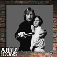 AWESOME STAR WARS LUKE SKYWALKER PRINCESS LEIA PAINTING ON CANVAS - NOT A PRINT