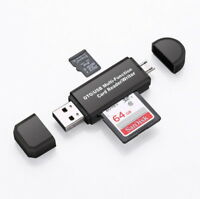 Micro USB OTG to USB 2.0 Adapter SD/Micro SD Card Reader With Standard USB US
