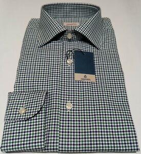 Camicia Aramis Cotone Quadretti Verde-Blu Regular Fit