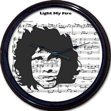 """Jim Morrison The Doors Light My Fire 80s Eighties Sheet Music Wall Clock 10"""""""