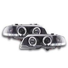Per adattarsi BMW 3 Series E46 COUPE/CABRIOLET 98-03 Black Angel Eye Halo fari