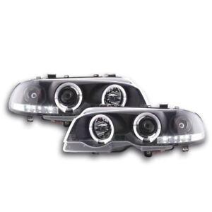 BMW 3 Series E46 Coupe / Cabriolet 1998-2003 Black Angel Eye Halo Headlights