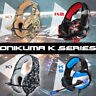 K1/2/5 Gaming Headset for PS4 New Xbox One PC Stereo Surround LED Headphones Mic