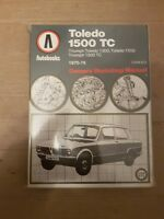 Triumph Toledo 1500 TC Autobook Manual 1970 to 1976      Free UK Post